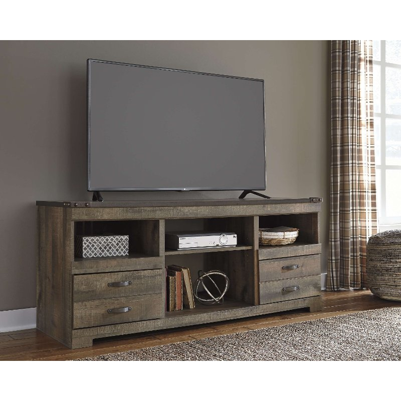 Natural Brown Rustic Wooden 70 Inch Tv Stand Trinell Large Tv
