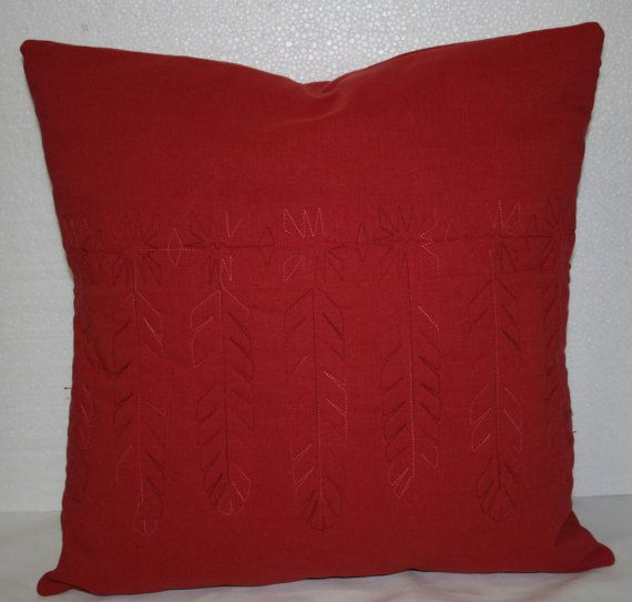 Decorative Quilted Throw Pillow Cover Indian Feather Design In Adorable Decorative Quilted Pillows