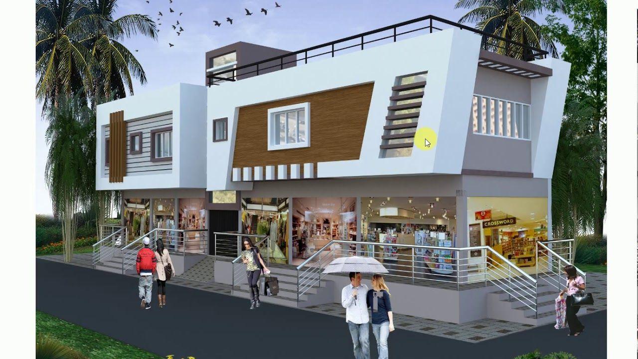 Ground Floor Shops 1st Floor Residance Plan Commercial Design Exterior Home Building Design Home Door Design