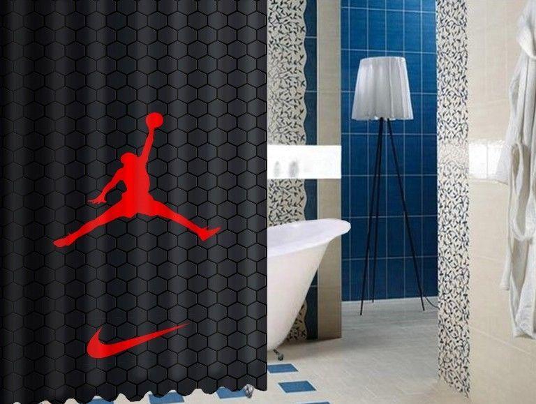 Nike099 Jordan Air Design Art High Quality Custom Shower Curtain
