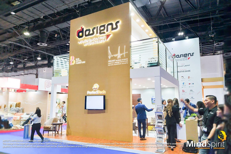 Fabric Exhibition Stand Builders : Hotel show dubai 2018 design and concept: www.mindspiritdesign.com