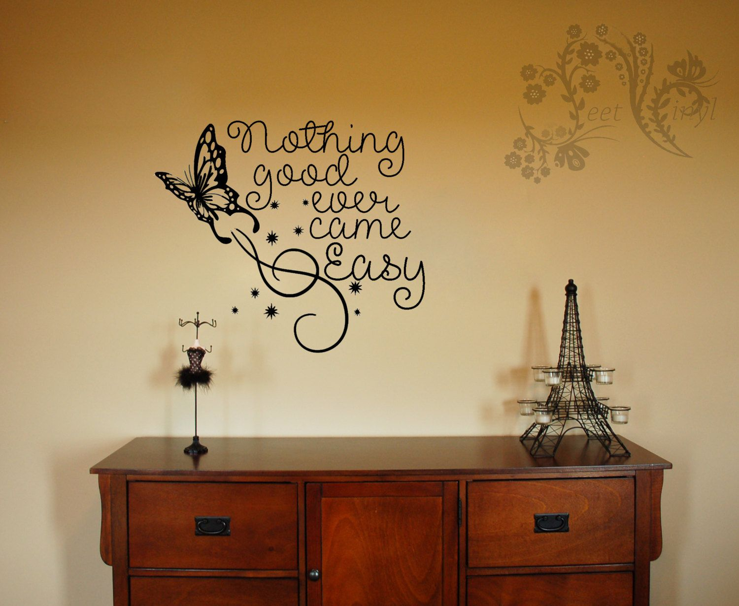 Nothing good ever came easy - Vinyl Decal - Wall Vinyl - Wall Décor ...