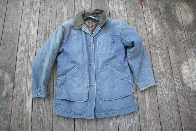 Jacket, blue jacket vintage color cotton canvas