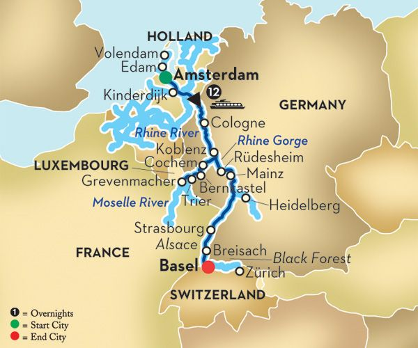 Moselle River Map For Residents Pinterest Rivers - Rhine river location