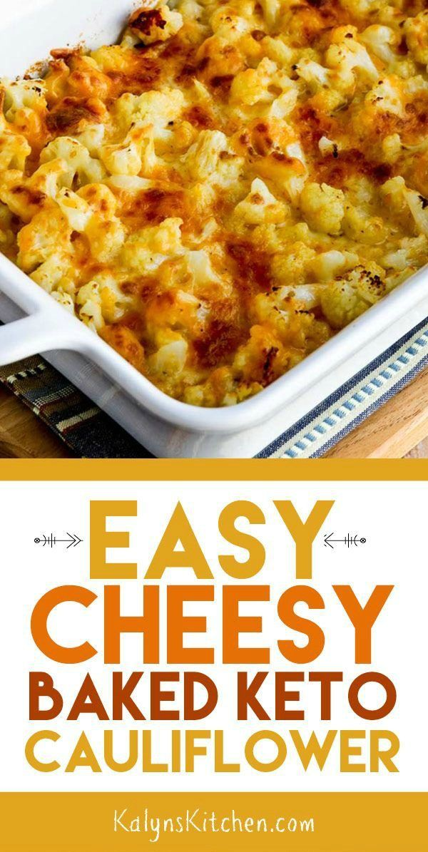 Photo of Easy Cheesy Baked Keto Cauliflower (Video) – Kalyn's Kitchen