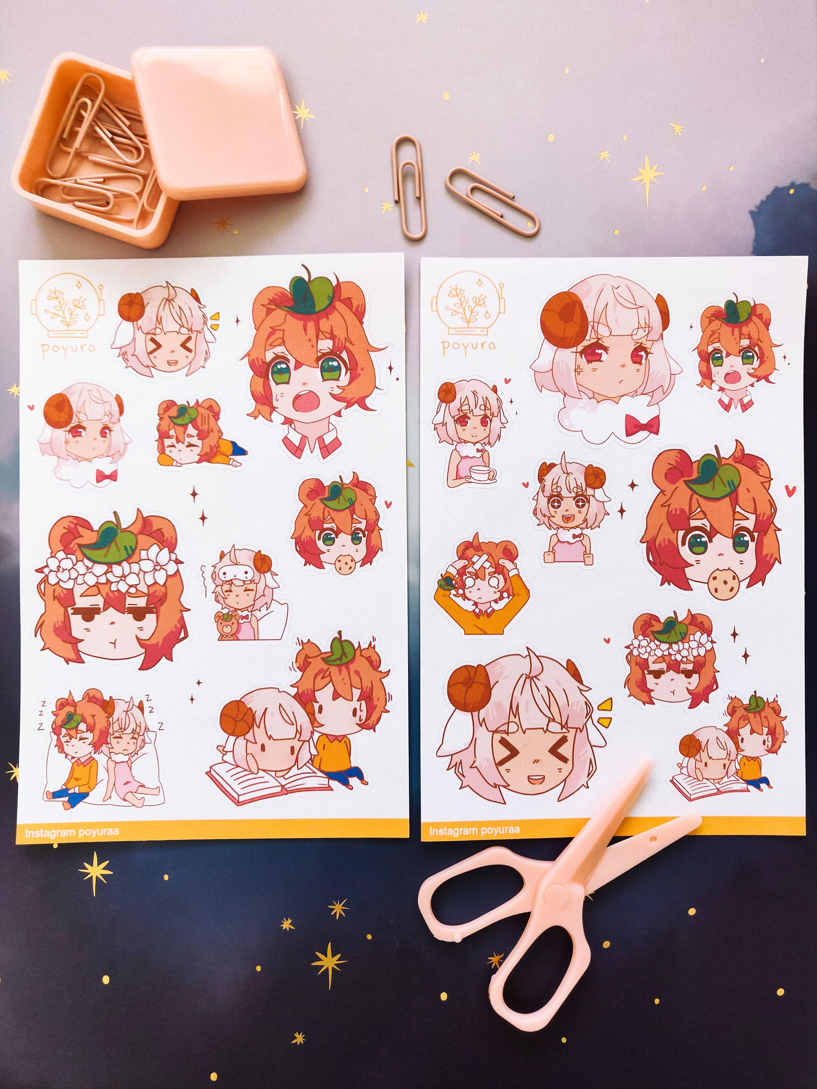 Anime Planner Bullet Journal Sticker By Poyura Bullet Journal Stickers Girl Stickers Journal Stickers