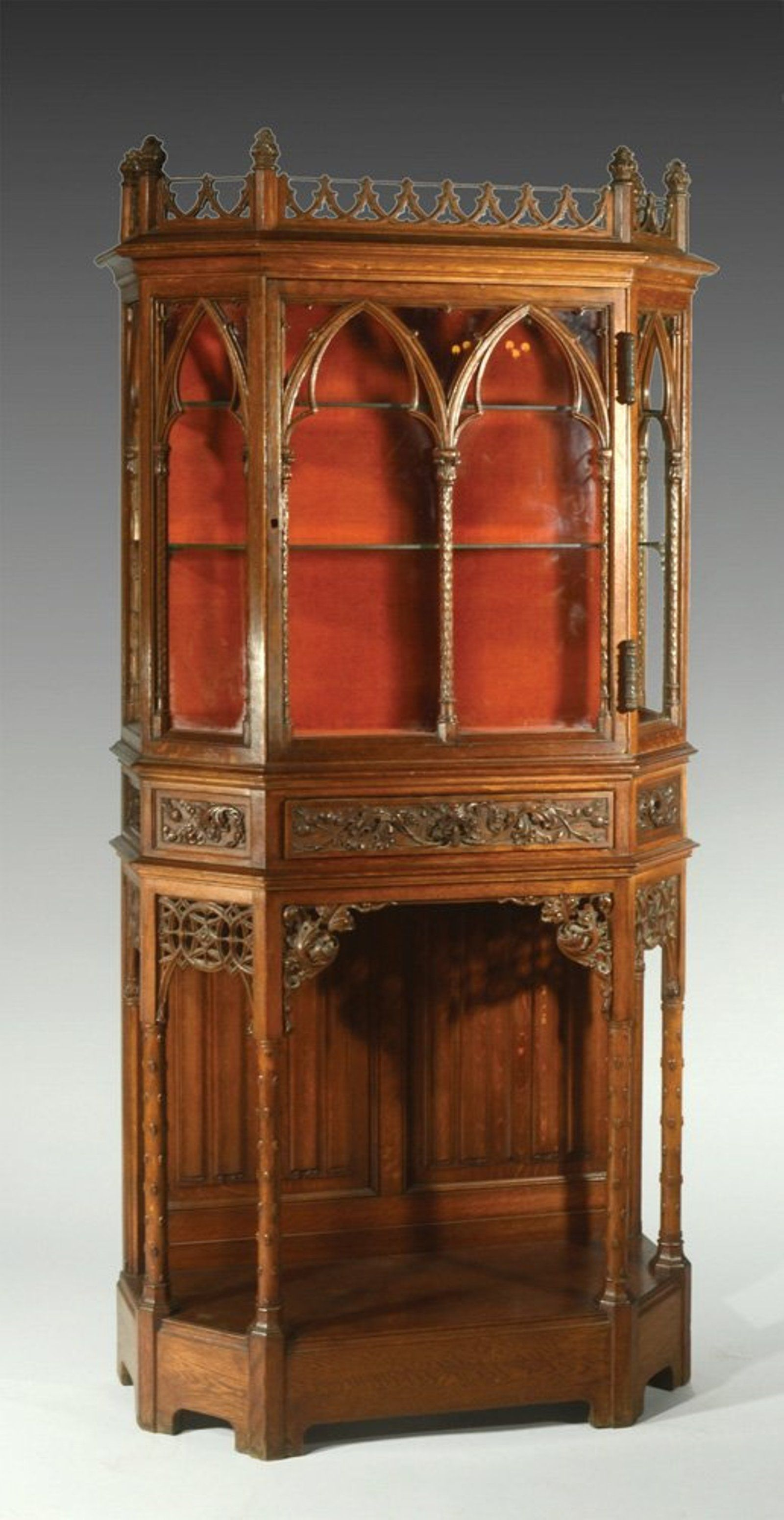 A French Neo Gothic Display Cabinet Gothic Display Display Cabinet English Furniture Style