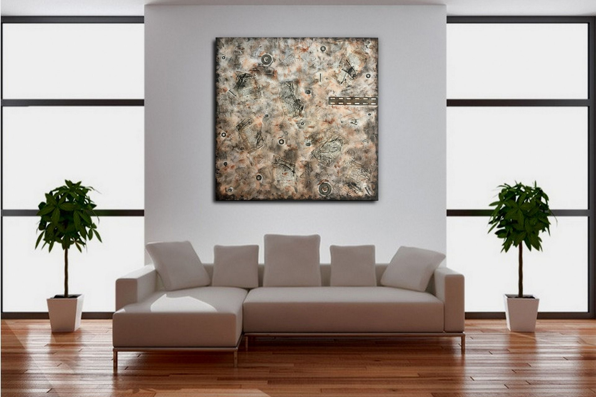"""Tableau industriel / contemporain / moderne grand """"indus 3"""" : Peintures par zou67"""