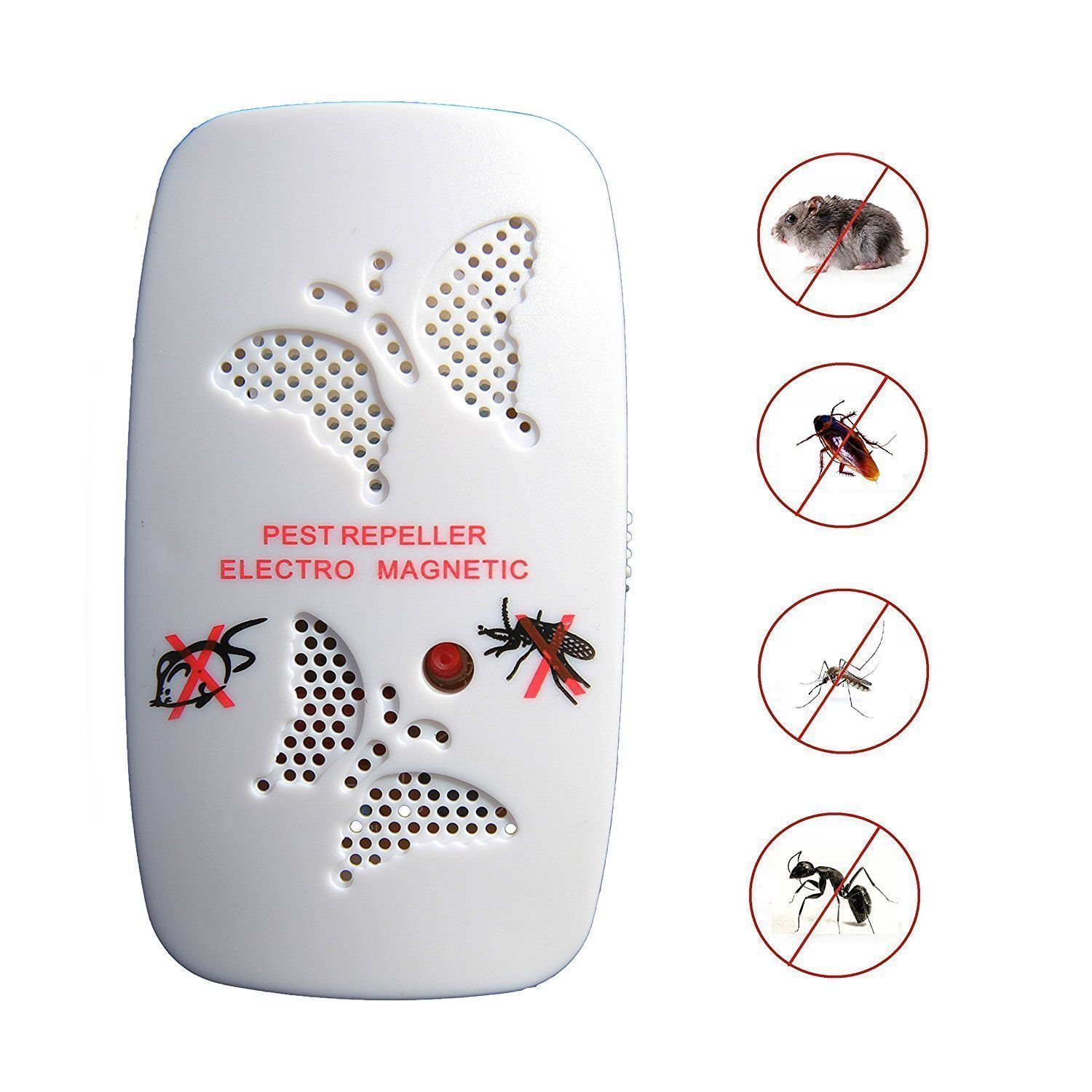 Ultrasonic Pest Repeller Electronic Control Repel Mice Micecockroachflymosquito