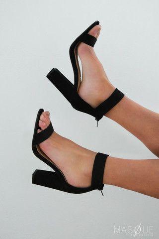 channel heels by billini in black $69