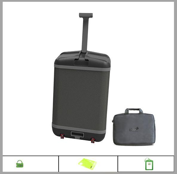 The FUGU LUGGAGE suitcase + Laptop Case + Name Tag + Vacuum Bags