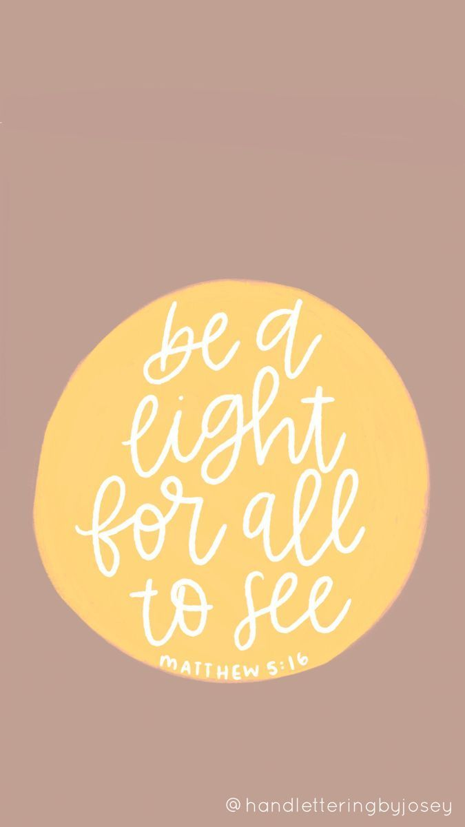 be a light for all to see circle sticker