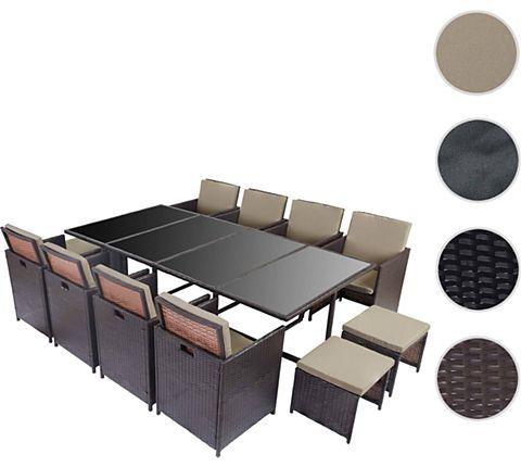 heute-wohnen Poly-Rattan Garten-Garnitur Kreta, Lounge-Set