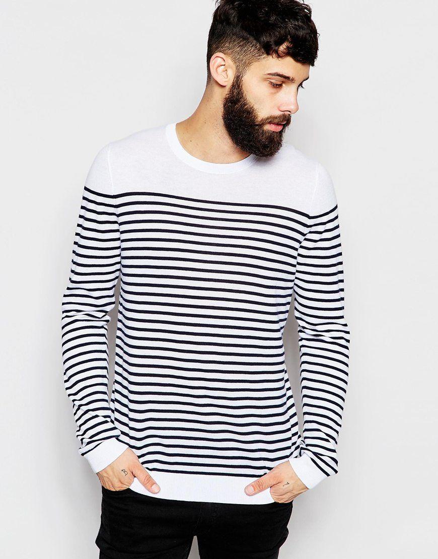 ASOS Stripe Jumper in Cotton