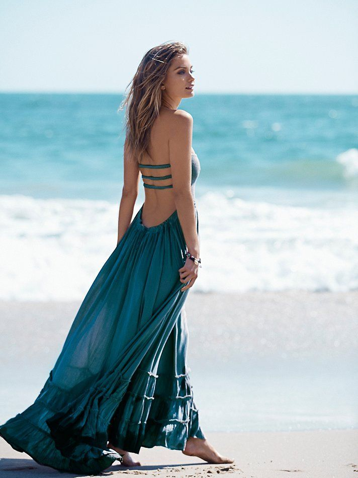 f826f02d35b1 Image result for FREE PEOPLE BOHO macrame back tie dye beaded Summer maxi  DRESS