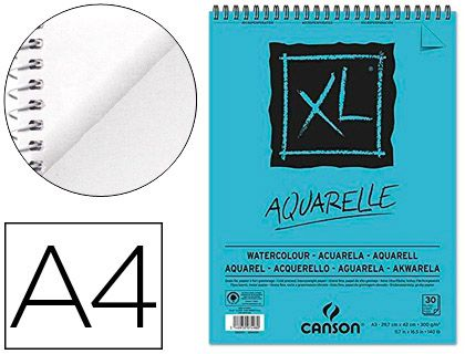 Bloc Dibujo Acuarela Canson Xl Aquarelle Grano Fino Din A4