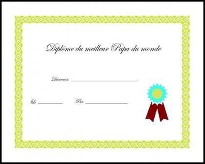 Diplome Vierge à Imprimer