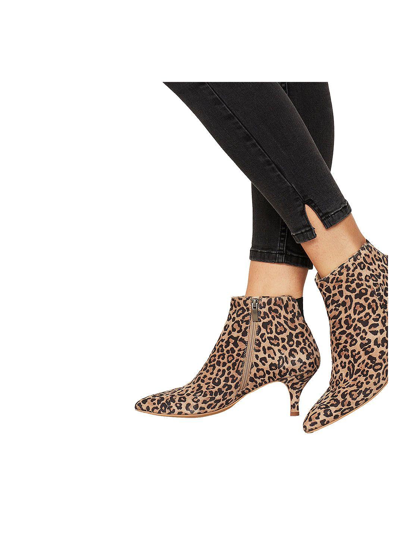 Mint Velvet Tommie Kitten Heel Ankle Boots Blue Leather Kitten Heel Ankle Boots Boots Ankle Boots