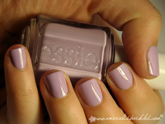 """Essie's """"Nice is Nice,"""" which is nice and pink-ish without being too over the top. Good fall color."""