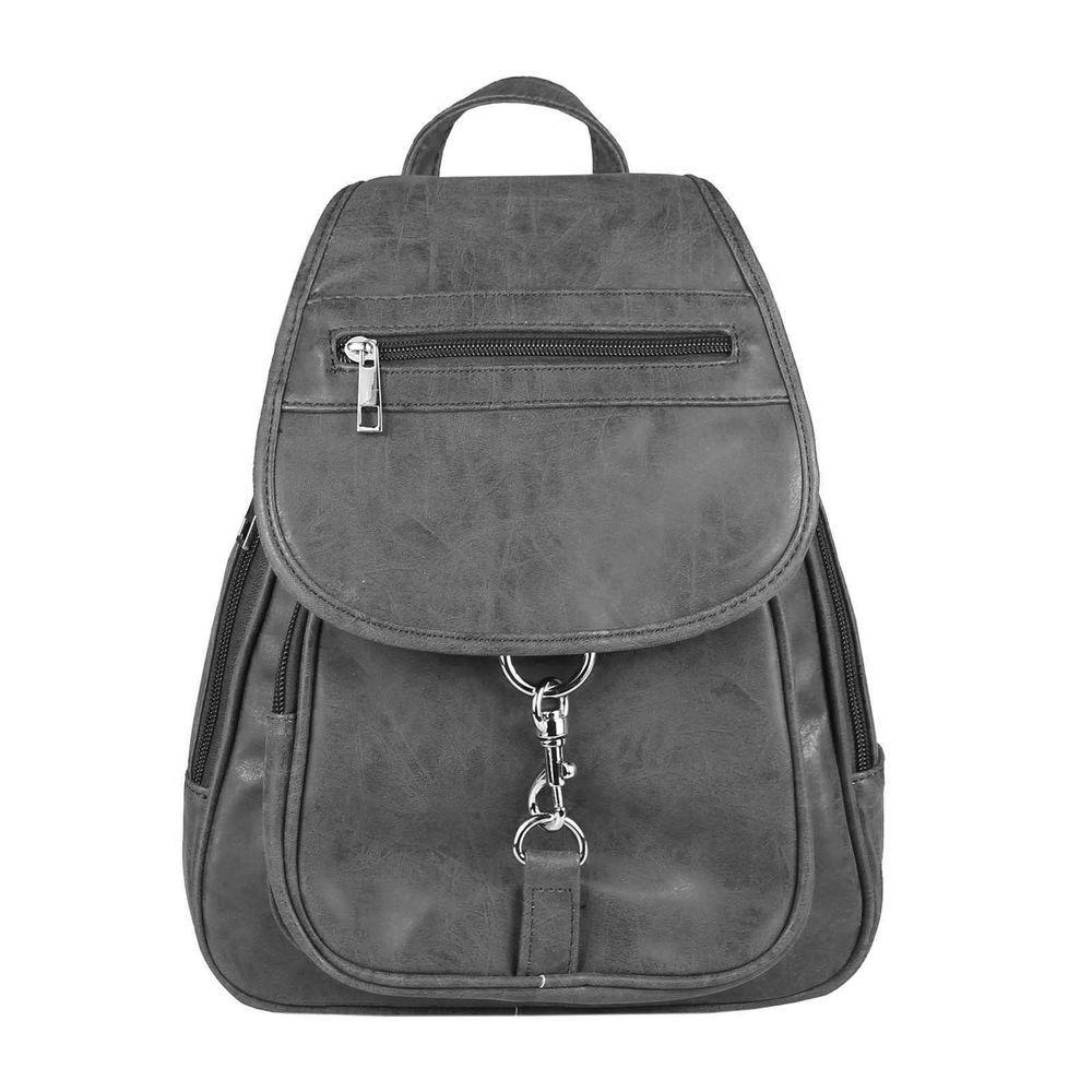 kleiner Rucksack Damen Tasche Rucksacktasche Nubuk Optik schwarz