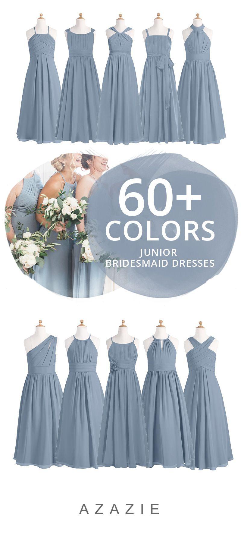 Dusty Blue Junior Bridesmaid Dresses  Wedding bridesmaids dresses