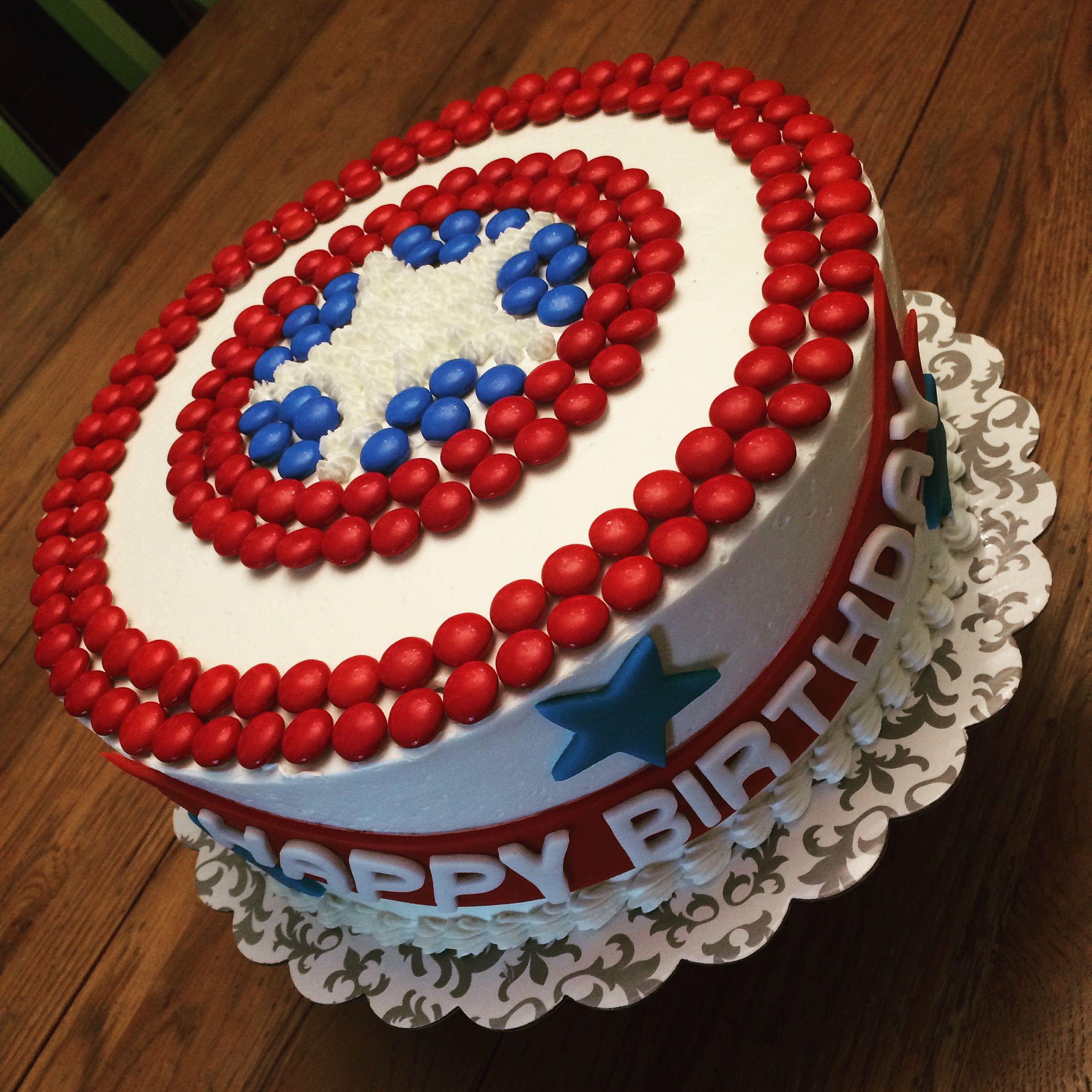 Captain Americas Shield Cake StricLee Sweet Pinterest Cake