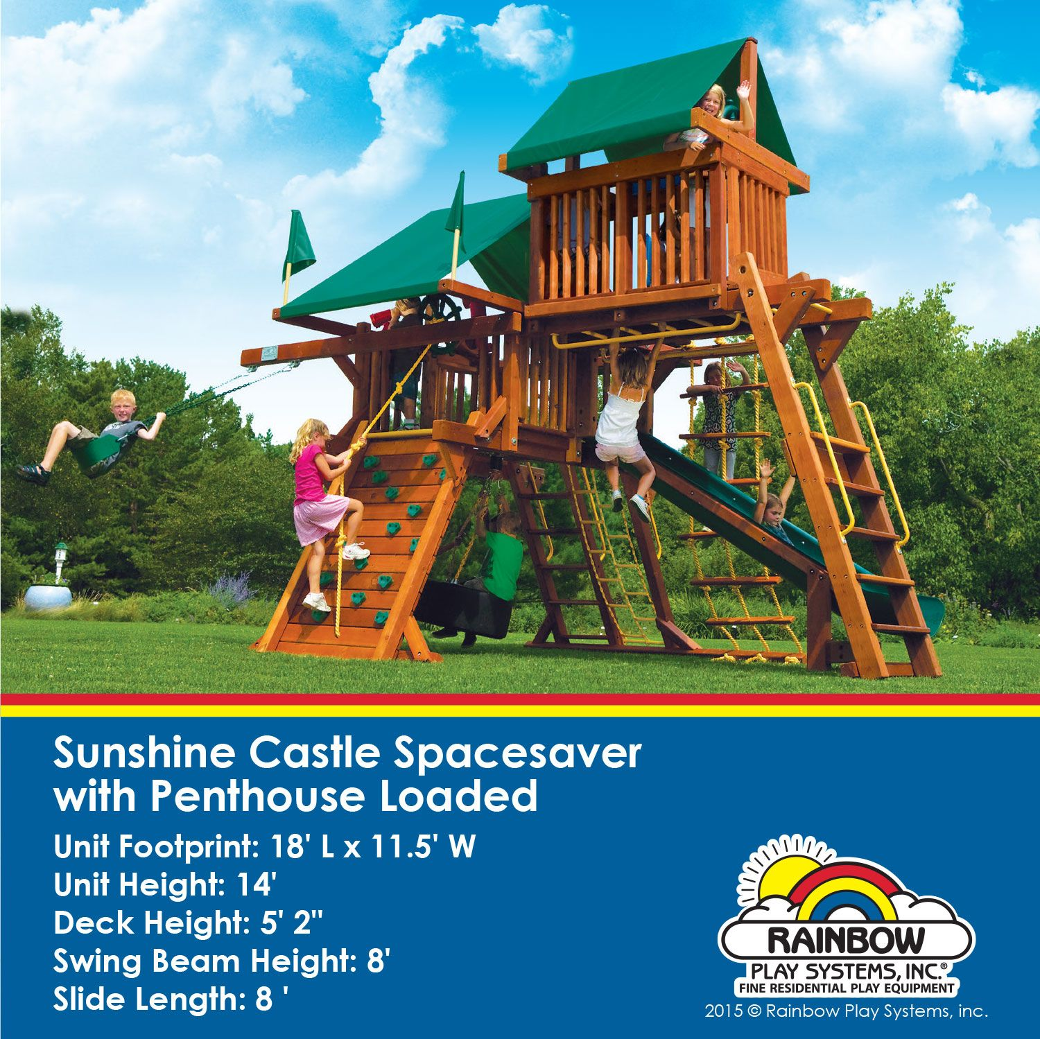 Sunshine Castle Spacesaver With Penthouse Loaded