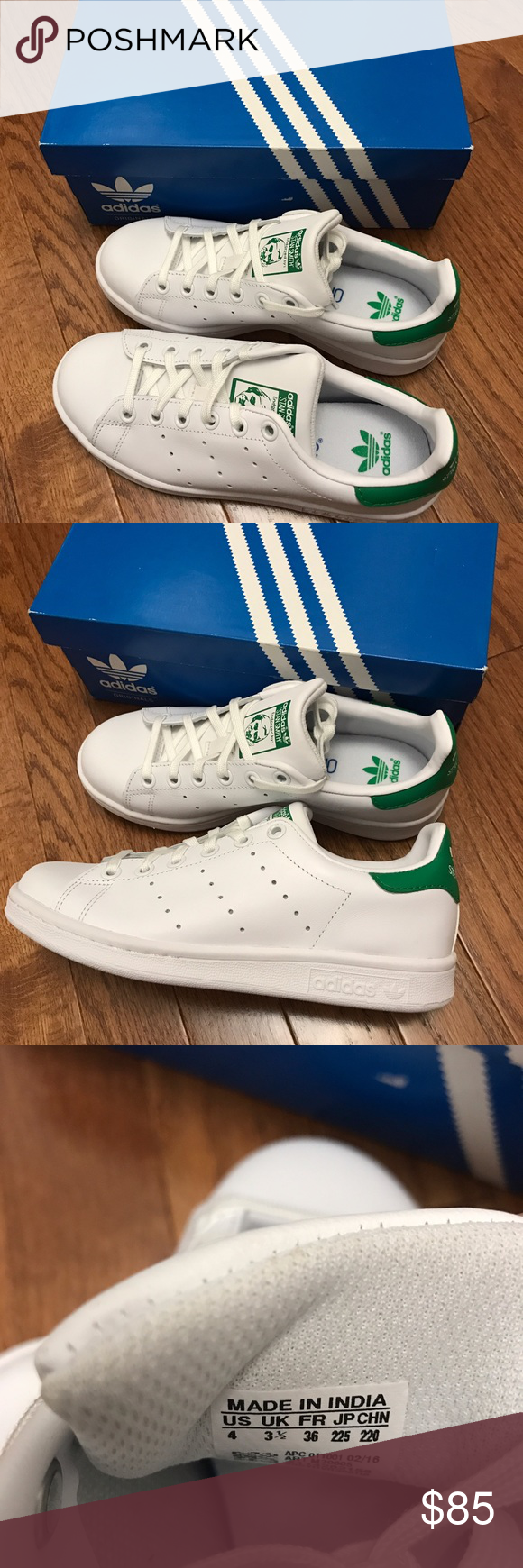 Adidas Stan Smith 4Y Brand new with box size:4(36) Authentic Adidas Shoes Sneakers