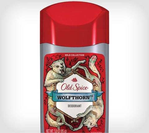 Old Spice Wild Collection Wolfthorn Deodorant (no antiperspirant with dangerous aluminium!). Smells like fruit! So yummy!
