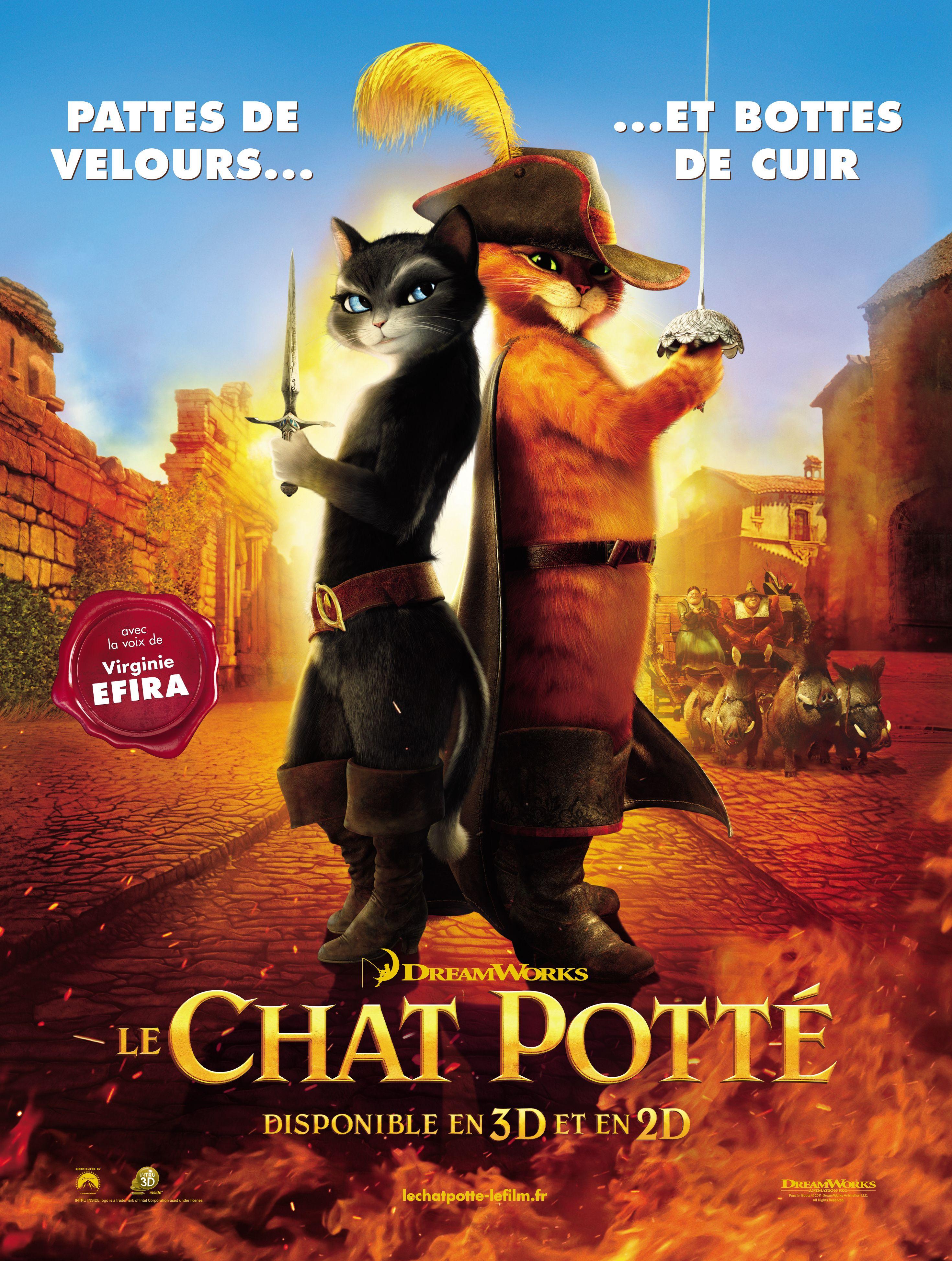 Le Chat Potte Affiches Et Pochettes Le Chat Potte De Chris Miller Chat Potte Dreamworks Chat