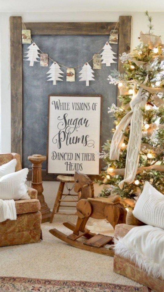 Cute farmhouse christmas decoration ideas also pinterest rh