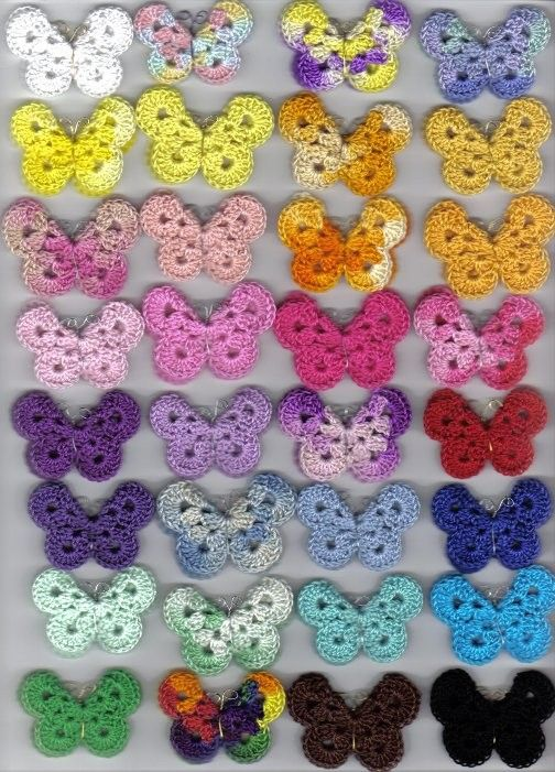 lovely butterflies | Crochet | Pinterest | Häkeln schmetterling ...