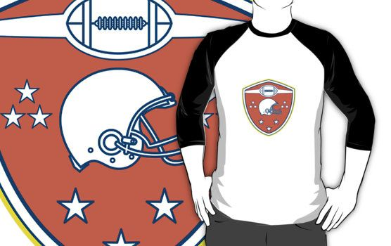 f87c2395eb2 American Football Helmet Stars Shield Retro by patrimonio