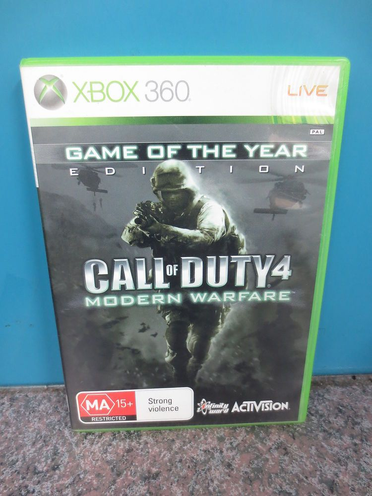 Call Of Duty 4 Modern Warfare Xbox 360 Game Rated 2nd Most Popular Game Title To Date With Images Modern Warfare Xbox 360 Warfare