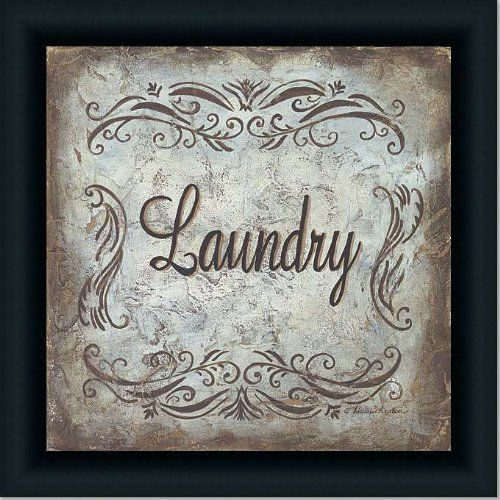 Laundry Room Decor Cottage Blue Art Print Sign Framed by Framed Art ...