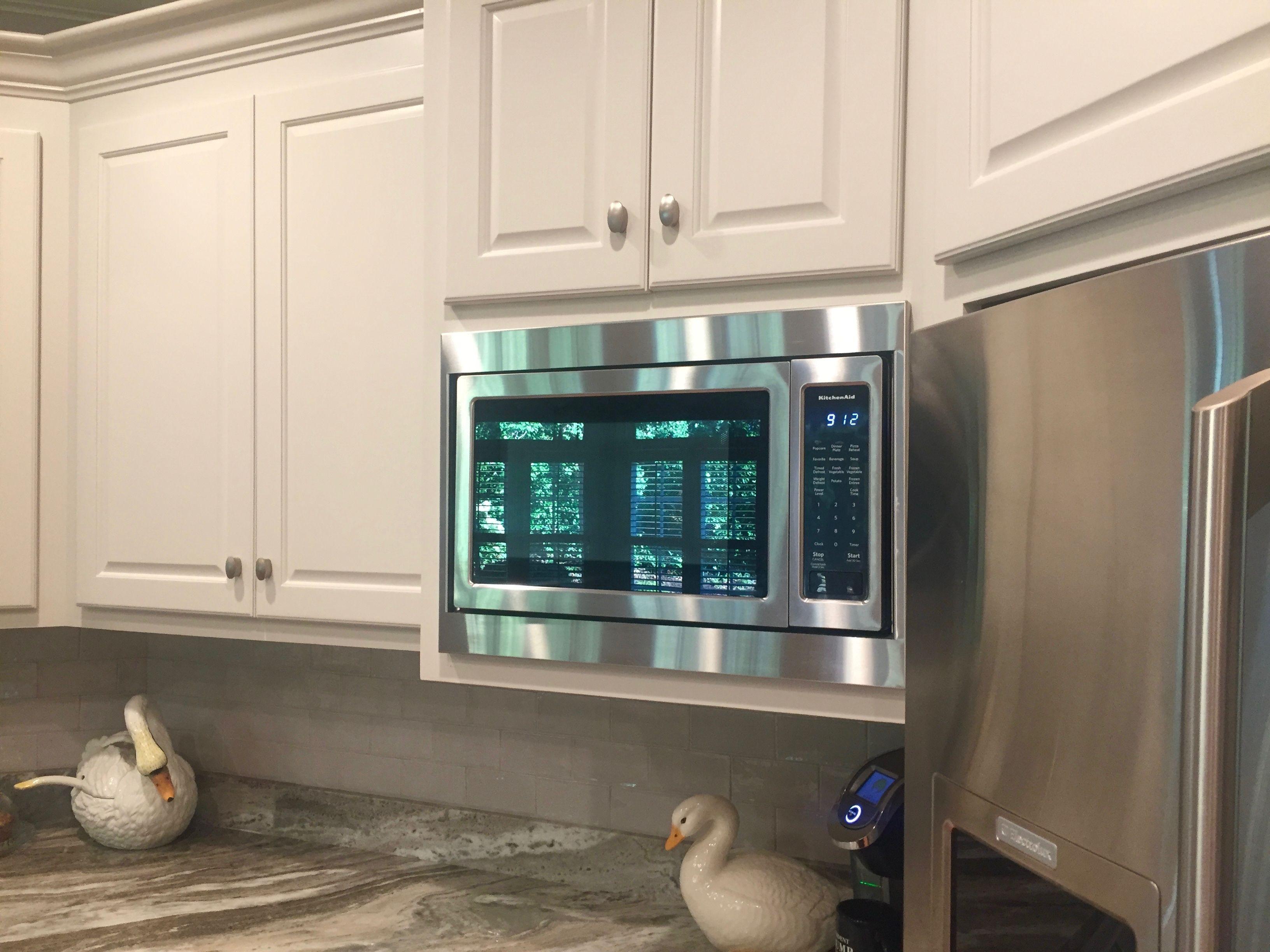 kitchenaid microwave trim kit installation