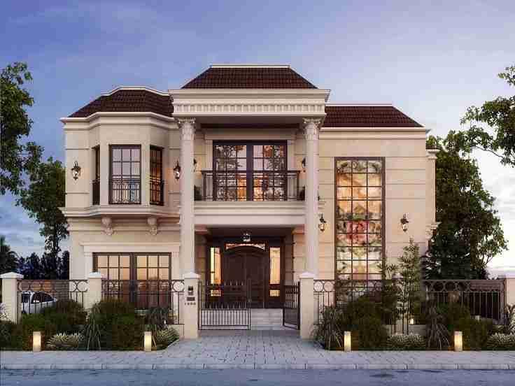 مخططات فلل صغيرة 150 متر تصاميم فلل بسيطة معنى الحب House Designs Exterior Classic House Design Small House Exteriors