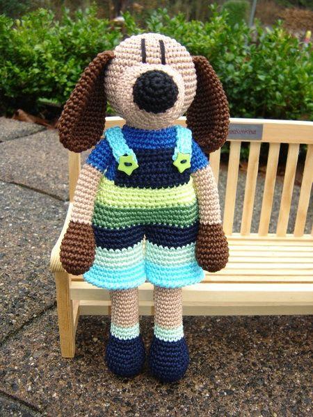 Hannes - crochet Dog ♥ von Schneckenkind auf DaWanda.com