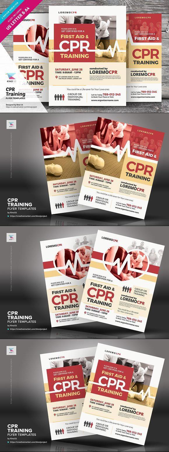 cpr training flyer templates flyer flyerdesign templatedesign