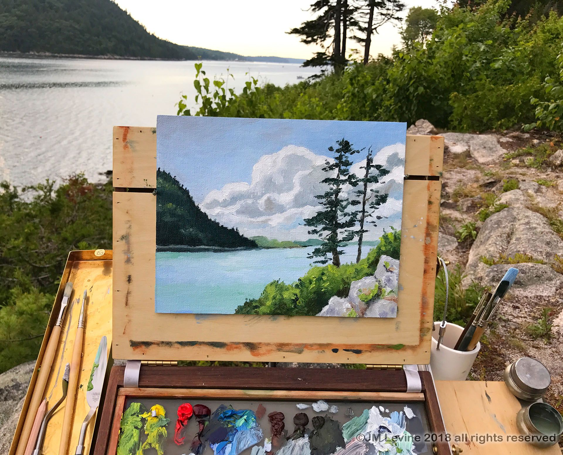 Plein air painting in Maine Plein air paintings, Plein