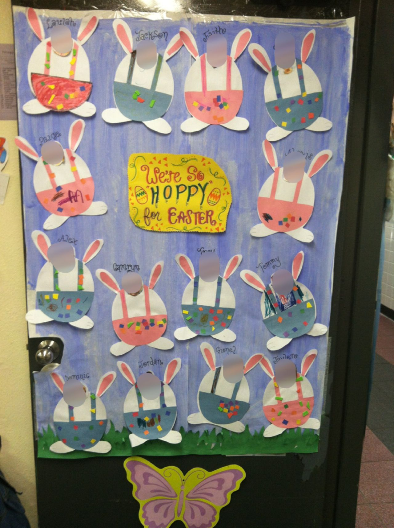 Classroom door decoration for easter mrs jennifer 39 s for Art and craft for classroom decoration