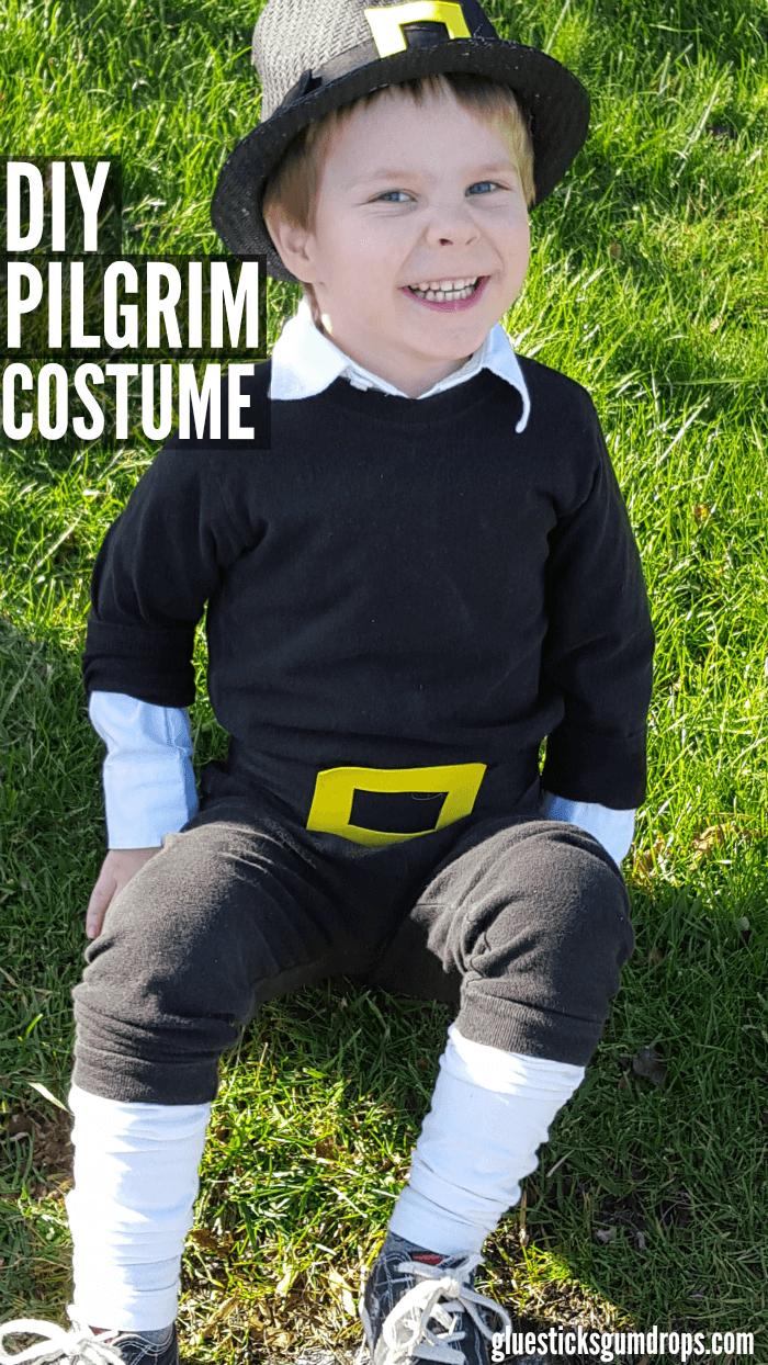 Easy diy pilgrim costume pilgrim costume pilgrim and costumes easy diy pilgrim costume glue sticks and gumdrops solutioingenieria Images