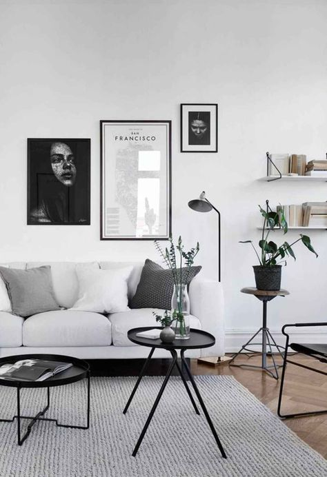 Wohnzimmer schwarz weiß grau Wohnzimmer Pinterest Living room