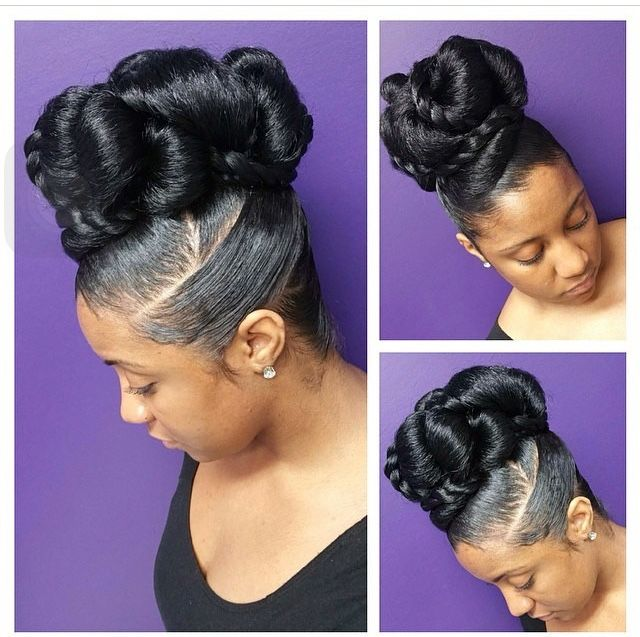 Beautiful Updo On Nautual African American Hair Natural Hair Styles Natural Hair Updo Hair Styles