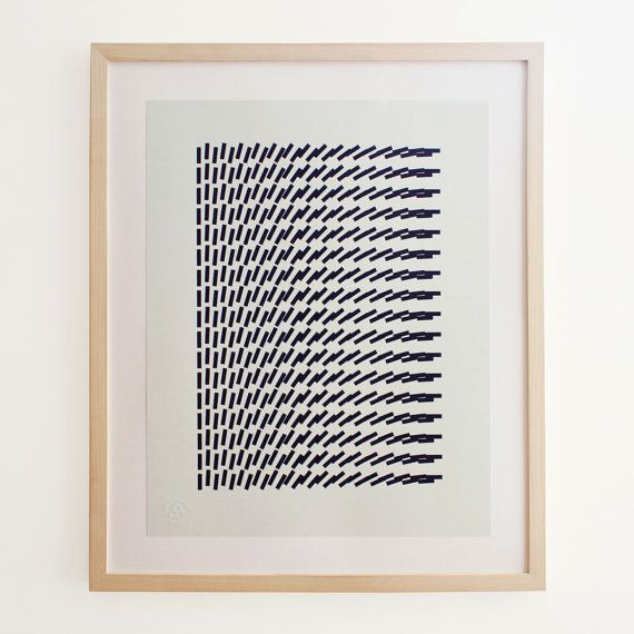 Geo Motion 4 Geometric Pattern Screenprint. Art by SpringOnceMore
