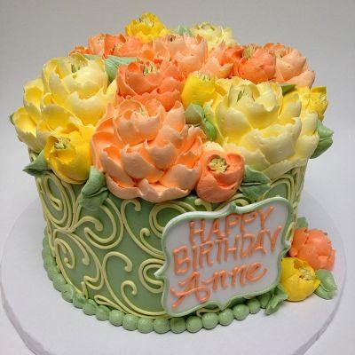 Scroll 7 white flower bakery shoppe oh pinterest cake gorgeous buttercream cake by the white flower cake shoppe mightylinksfo