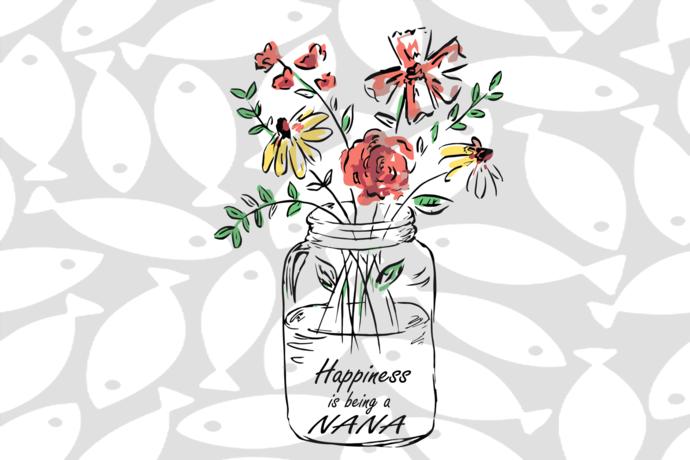 Download Happiness is being a nana, nana svg, nana gift, nana shirt ...