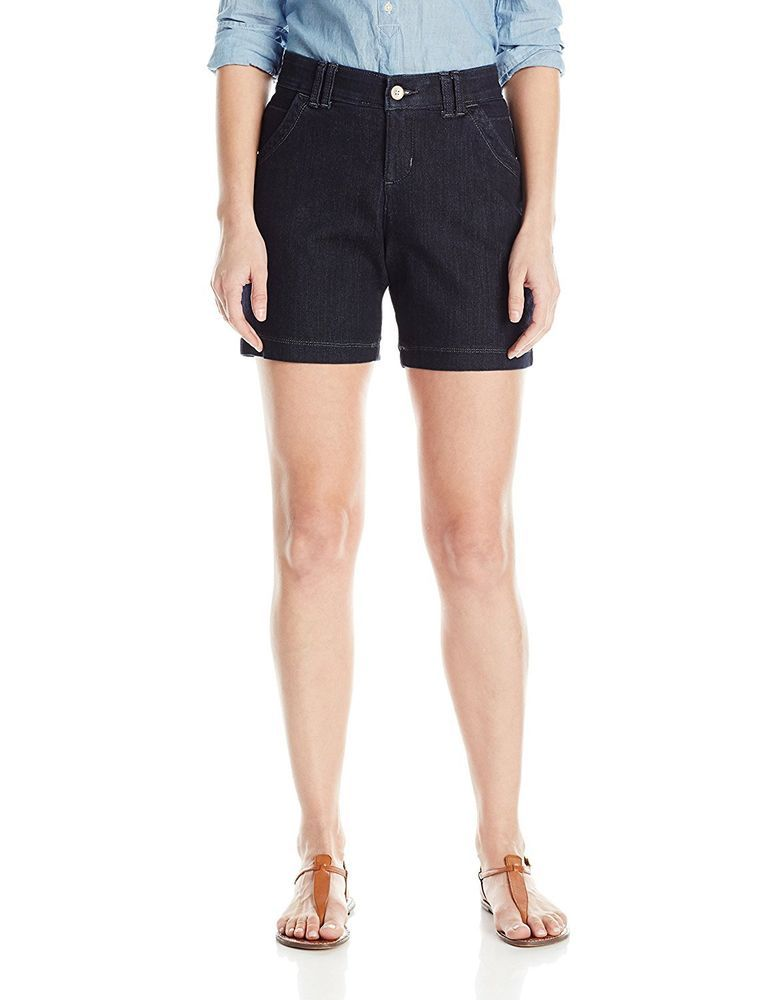 Lee Womens Denim Shorts Comfort Fit Hettie Heritage Mid Rise Size