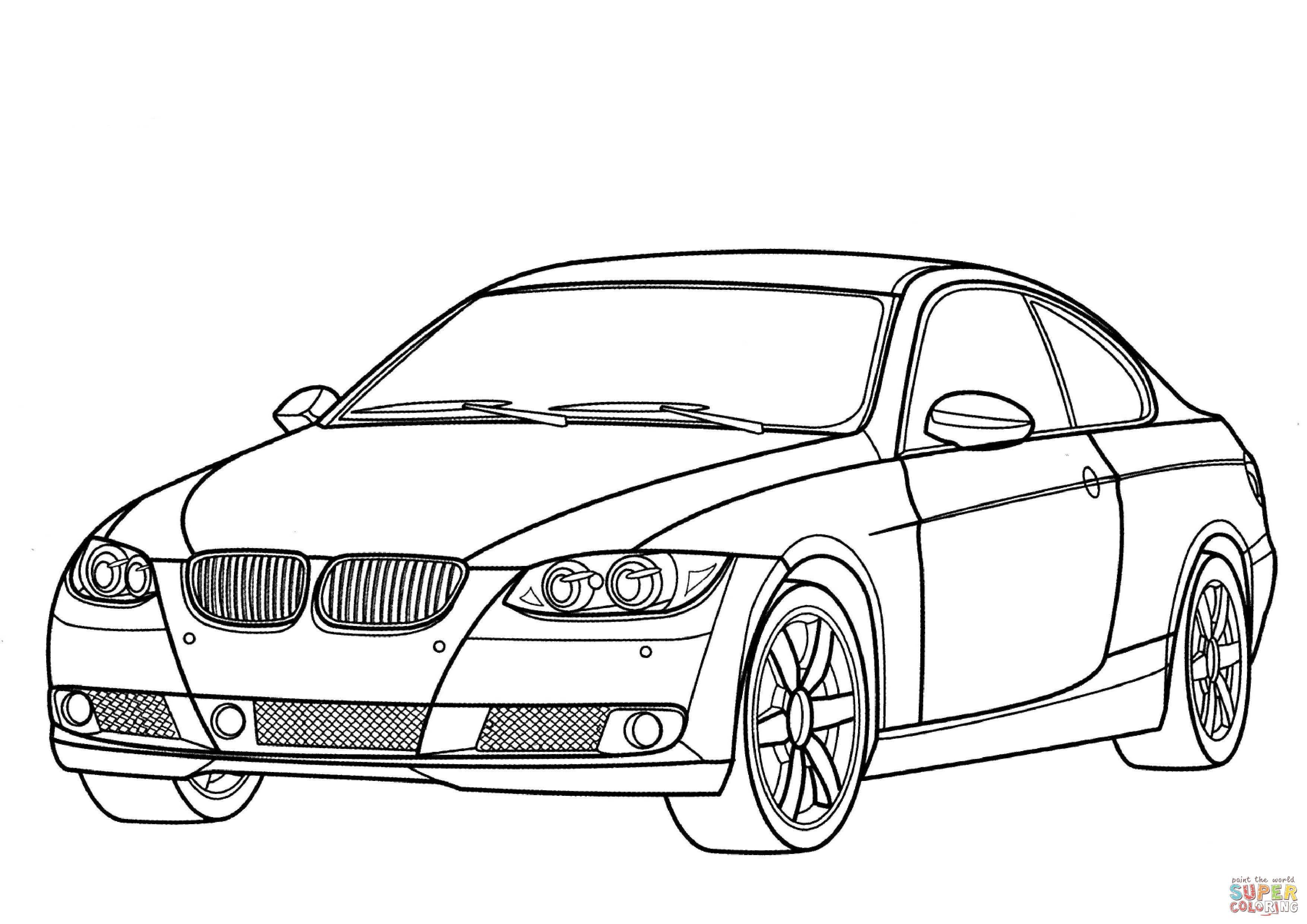 Ausmalbilder Autos BMW 7 Serie  Cars coloring pages, Race car