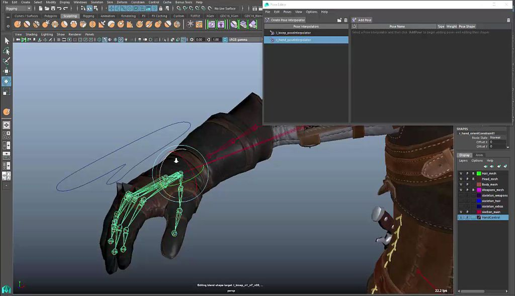 Maya  Extension  Pose Editor  Computer Graphics  Digital
